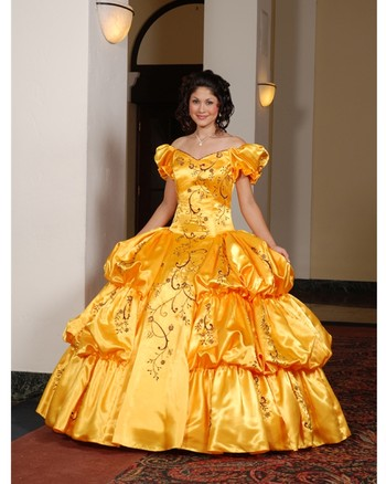 Gold quinceanera dresses in houston